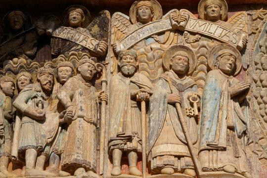 Tympan de l'abbaye Sainte Foy à Conques