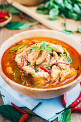 Red pork coconut curry (Panaeng) : Delicious and famous Thailand food