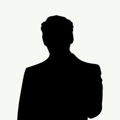 Man silhouette profile picture (vector)