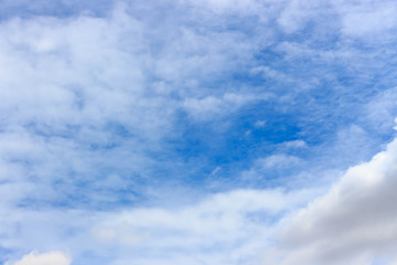 blue sky with clouds blurred background