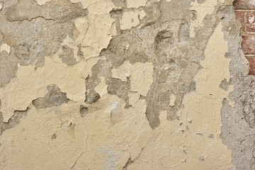 Fotobehang Oude vuile getextureerde muur Cracked Concrete Wall Detail Background