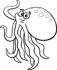 octopus cartoon coloring book