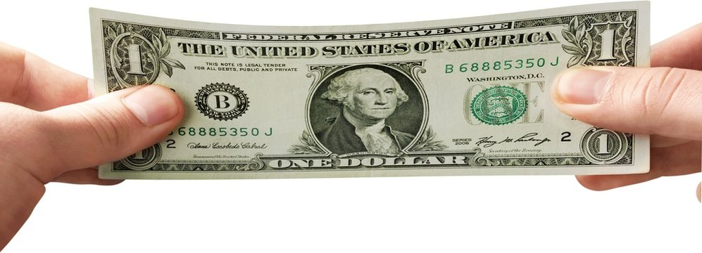 Dollar, Stretching, Stretched Image.