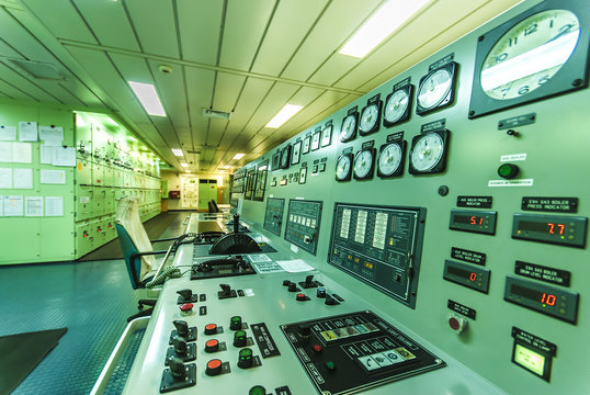 Engine Control Room of an extra large ship