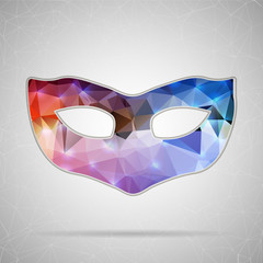 Abstract Creative concept vector icon of mask for Web and Mobile