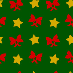 christmas time cute seamless vector pattern illustration