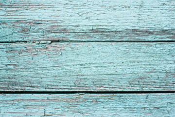 Blue painted wooden desks texture.