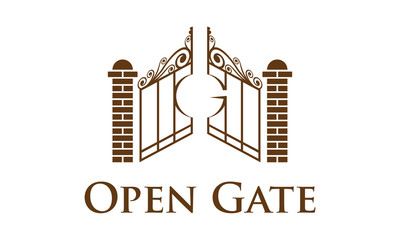gate, architecture, building, construction, vector, logo, design