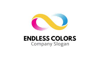 Endless Colors Version two Logo Design Illustration