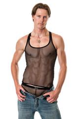 Man in Mesh Shirt