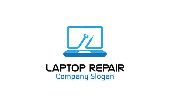 Laptop Repair Logo template
