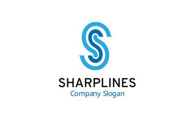 sharp lines logo template