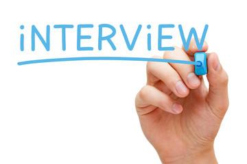 Interview Blue Marker
