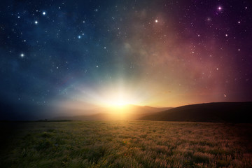 Space sunrise