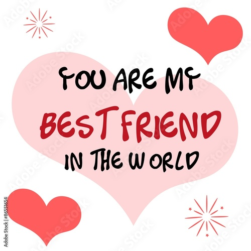 You Are My Best Friend Card Stock Image And Royalty Free Vector
