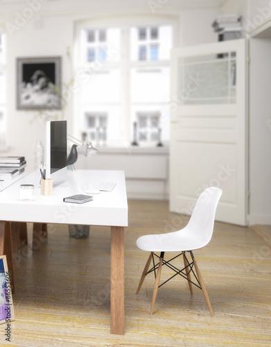 twin home office focus stockfotos und lizenzfreie bilder auf bild 86553606. Black Bedroom Furniture Sets. Home Design Ideas