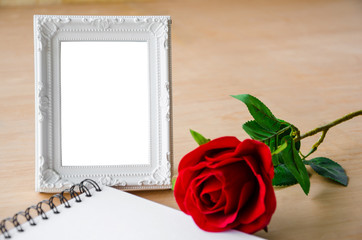 Close up Blank photo frame