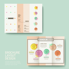 brochure design with watercolor style
