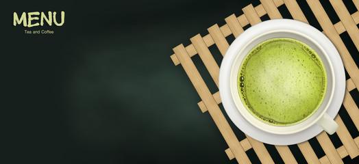 Food and Beverage, tea and coffee menu illustration