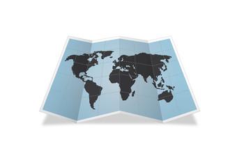Folded World Map
