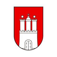 Hamburg coat of arms.