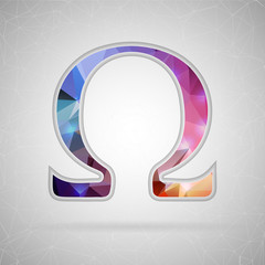 Abstract Creative concept vector icon of omega. For Web and