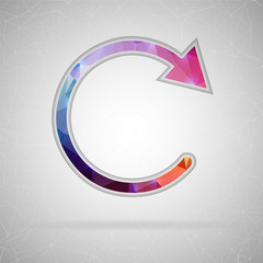 Abstract Creative concept vector icon of back arrow. For Web and