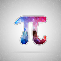 Abstract Creative concept vector icon of pi. For Web and Mobile