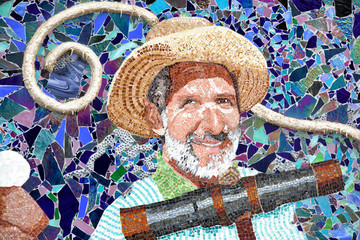 National Harbor fisherman mosaic