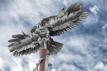 National Harbor iron eagle detail