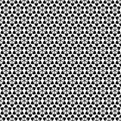 Seamless Pattern Flowers Black/White