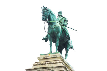 Bronze statue of Garibaldi on horse in Milan