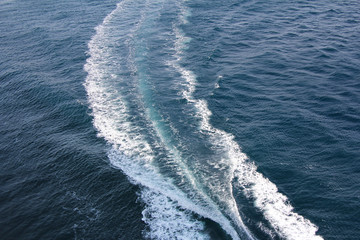 Ship Track on sea