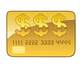 golden plastic card