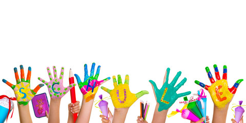 Schule Kinder Hände