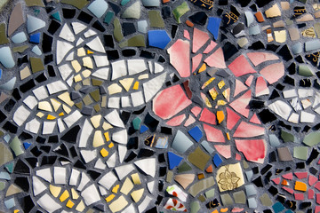 Mosaic Tiles Closeup Background