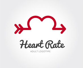 Abstract valentine logo template for branding and design