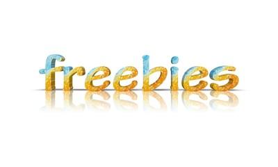 freebies 3d wort