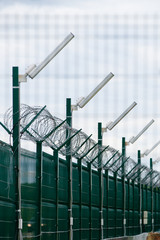 Security fence in prison