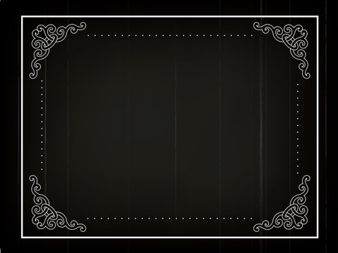 Old silent movie frame in art nouveu style