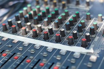 Sound mixer control desk