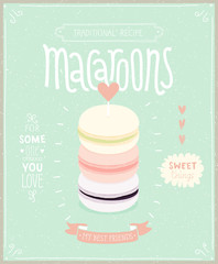 Wall Mural - Macaroons Poster - template for your design.