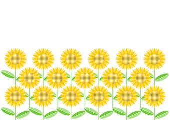 ひまわり 花柄 背景 素材