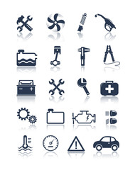 Mechanic and service tools icons