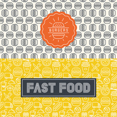 Vector fast food package design elements