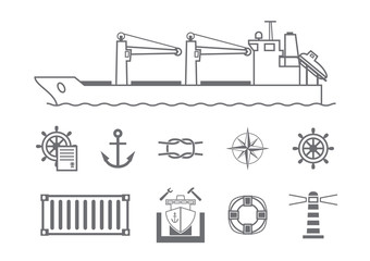Maritime services icons