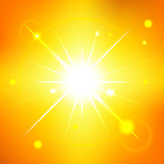 Sunny summer sky - editable vector graphic