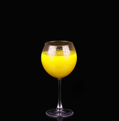 Monkey Gland cocktail, consisting of gin, orange juice, absinthe and grenadine