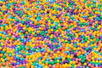 colorful plastic balls texture background