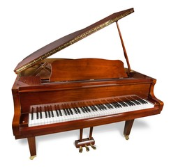 Piano, Antique, Old.